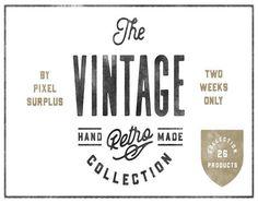 """다음 @Behance 프로젝트 확인: """"The Vintage Collection"""" https://www.behance.net/gallery/43509879/The-Vintage-Collection"""
