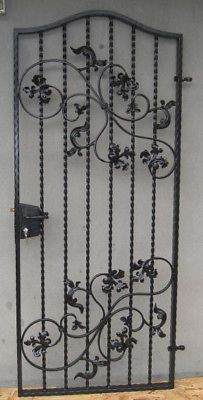 Wrought Iron Ornamental Garden Gate,Side Gate, Security Gate, Price includes VAT | eBay £674