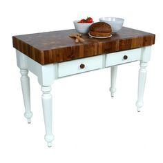 John Boos John Boos American Heritage Rustica Prep Table with Butcher Block Top