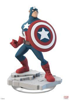 Amazon.com: Disney INFINITY: Marvel Super Heroes (2.0 Edition) Captain America Figure: Video Games
