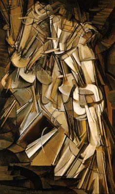 Marcel Duchamp, the enigmatic father of Contemporary Art, shocked audiences with this Cubist masterwork. The painting, ostensibly depicting a nude woman walking down a flight of stairs, has been so abstracted into geometric planes that it is impossible to determine any sense of concrete time or space. With this work, Duchamp pushed Cubism farther than Picasso, paving the way for further explorations into abstraction, a main thrust of 20th century painting.