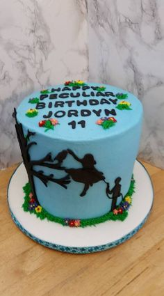 """""""Miss Peregrine's Home for Peculiar Children"""" birthday cake."""