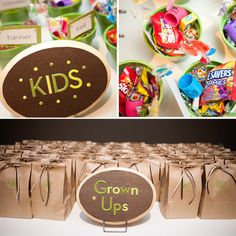 Kid wedding favors.  I doubt that I'll have any children at my wedding, except perhaps the ring bearer and flower girl, but I still like the idea.