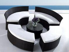 Designer Rattan Gartenmöbel - Lounge - Möbel - Polyrattan - Sitzgruppe - FOGGIA