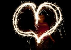 Light writing with sparklers