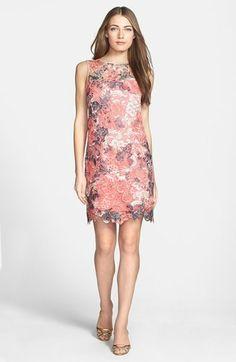 9cc57ec610 Donna Ricco Tie Dye Lace Shift Dress Donna Ricco