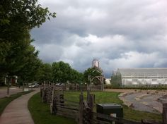 Storm building over New Town St. Charles Farm - taken with Samsung Galaxy S