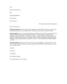resume covering letter examples