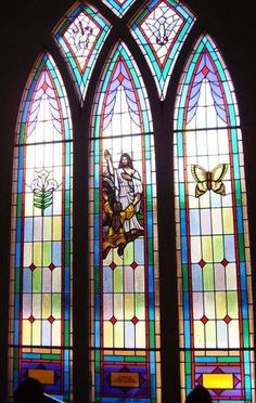 Stained Glass Windows at Calvary United Methodist Church in Swansea, SC