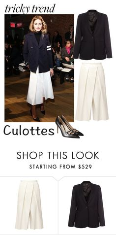 """""""Olivia Palermo's classic spin of culottes"""" by beth-villasin ❤ liked on Polyvore featuring TIBI, Paul Smith, Gucci, TrickyTrend and culottes"""