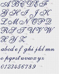 Top Alfabeto Punto Croce Corsivo Maiuscolo E Minuscolo Tattoo