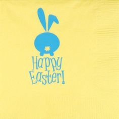 Printed & Ready to Ship 3-Ply Easter Napkins HAPPY EASTER