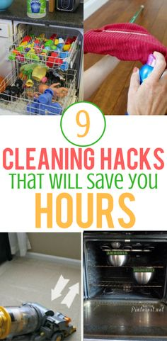 9 Cleaning Hacks That Will Save You Tons Of Time #homecleaninghacks