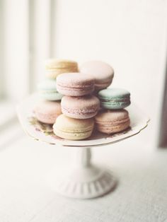 Macaroons are the perfect sweet treat for a chic wedding: http://www.stylemepretty.com/2014/10/16/charming-parisian-garden-wedding-inspiration/ | Photography: Krista A. Jones - http://kristaajones.com/