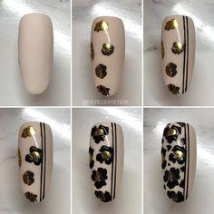 No photo description available. Autumn Nails, Fall Nail Art, Nail Art Diy, Diy Nails, Nail Nail, Leopard Nail Art, Animal Nail Art, Cheetah Nails, Leopard Spots