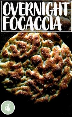 This is the BEST focaccia. The key? A long, slow overnight rise in the refrigerator, which creates a light airy crumb and those beautiful dimples on the surface, which catch oil and salt and are oh so tasty. This dough takes 5 minutes to stir together — do it before you go to bed; you'll be so happy you did when you break into the bread the following evening. #focaccia #bread #homemade #easy #best #overnight #refrigerator
