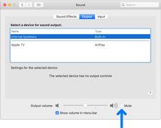 Ha nem hall hangot a Mac hangszóróiból - Apple támogatás Usb Speakers, Built In Speakers, Hearing Sounds, Digital Cable, Output Device, All The Way Down, Apple, Apple Fruit, Apples