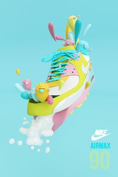 NIKE AIRMAX 90 by AARON MARTINEZ, via Behance #3D #design #poster