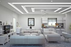 The Five Elements of a Perfect In-Ceiling Screen Installation - False Ceiling Ideas - Gypsum Ceiling Design, House Ceiling Design, Ceiling Design Living Room, Bedroom False Ceiling Design, Ceiling Light Design, Home Ceiling, Home Room Design, Ceiling Decor, Living Room Interior