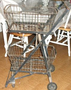 Vintage Shopping Cart Basket - I want one of these big time!