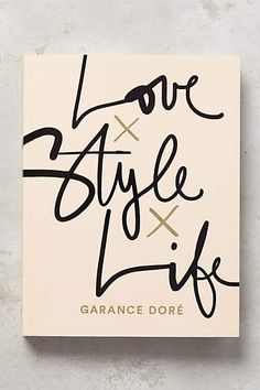 """The guardian of all style"" according to New York Times Magazine, Garance Doré has captivated millions of readers worldwide with her fresh and appealing approach to style and storytelling on her eponymous blog. This gorgeously illustrated book takes readers on a unique narrative journey that blends Garance's inimitable photography and illustrations with candid wisdom drawn from her life and travels. #anthropolgie #love #love #life #style #kasestyles"