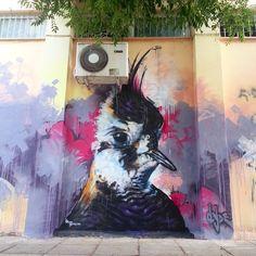 """Verry nice Work by @klaaslageweg!  #strtcomp #Art #kunst #malerei #fassade #mauer #sticker #stickerart #street #streetart #legal #illegal #bunt #colorfull…"""