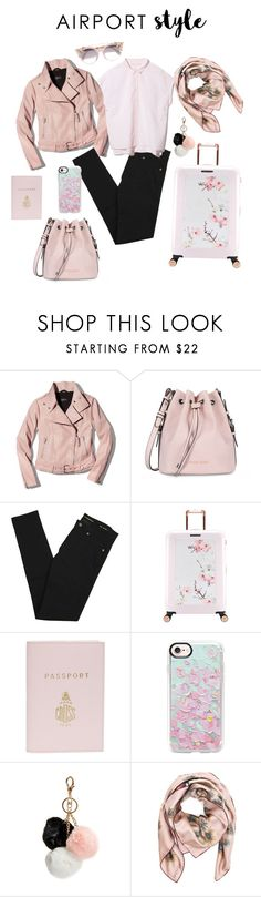 """""""peachy keen, jelly bean"""" by smitaefron ❤ liked on Polyvore featuring Mackage, Armani Jeans, Yves Saint Laurent, Ted Baker, Mark Cross, Casetify, GUESS, Valentino and Jimmy Choo"""