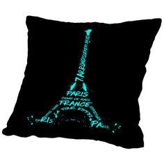 Found it at Wayfair - Digital Art Eiffel Tower Throw Pillow