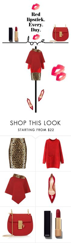 """""""Red."""" by emi-the-queen ❤ liked on Polyvore featuring Milly, WearAll, Gianvito Rossi, Chloé and Chanel"""