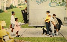 New Kids in the Neighborhood, 1967, Norman Rockwell. MFA, Boston