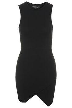 PETITE Sleeveless Asymmetric Bodycon Dress