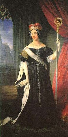 Maria Theresa of Austria (Maria Theresia Isabella; 31 July 1816 – 8 August was the second wife of Ferdinand II of the Two Sicilies. Lorraine, Austria, Adele, Two Sicilies, Maria Teresa, European Dress, Royals, Historical Clothing, 1800s Clothing