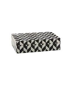 Monochrome patterned trinket box £15.40 House of Fraser