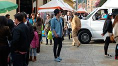 Local sunday market in Bogotá, Colombia  Loafers: Original Penguin Shirt: Anerkjendt  Jeans: Edwin Jeans Hat: Tiger of Sweden