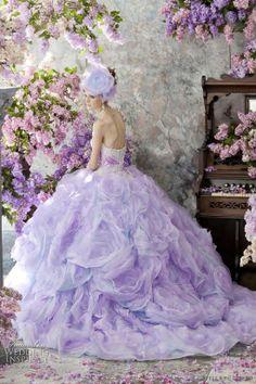 Stella de Libero Wedding Dresses ~ The Lilac Bridal Collection ~ Wedding+Inspirasi Color Lila, Lilac Color, Shades Of Purple, Purple Colors, Purple Lilac, Purple Hair, Light Purple, Pink, Colours