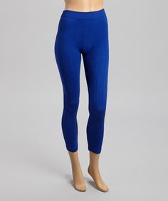 Another great find on #zulily! Royal Blue Knit Leggings - Women #zulilyfinds