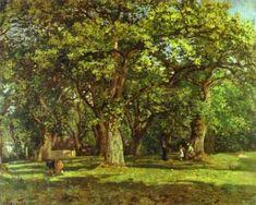 'el bosque', óleo de Camille Pissarro (1830-1903, France)