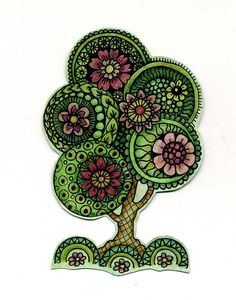 this weeks Monday Mark Maker, really busy week last week, so this is a tree that just grew!