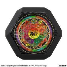 #Zodiac Sign #Sagittarius #Mandala Black Boombot Rex Bluetooth Speaker