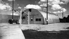 """A Quonset hut on the grounds of the Los Alamos National Lab in New Mexico where ""Fat Man"" was assembled in World War II. Fat Man was the nickname given to the atomic bomb dropped on Nagasaki, Japan, on Aug. 9, 1945. The hut would be part of a new Manhattan Project National Park."""