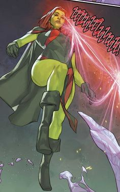 M'gann M'orzz is Miss Martian, the niece of Martian Manhunter. Her uncle assigned her to Nightwing's New Titans as a liaison between both teams. Superboy And Miss Martian, The Martian, Dc Comics Women, Marvel Dc Comics, Young Justice, New Titan, Desenhos Cartoon Network, Justice League Dark, Martian Manhunter