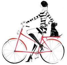 Daily Delight: Bicycle Chic Illustration by YOCO