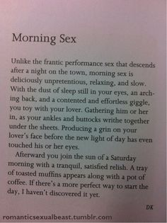 morning sex (morning,sex,book,story)