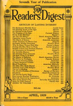 Reader's Digest, April 1929