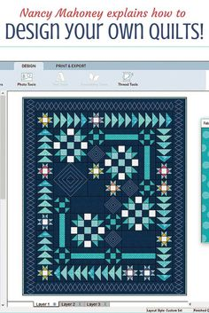 "Design your own quilts! Quilt designer and expert quilter, Nancy Mahoney, shares her method for designing quilts. She'll ""never go back to drawing block and quilt designs on graph paper."""