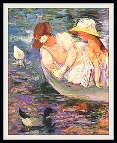 """MARY CASSATT: """"Verano"""", 1894  Mary Cassatt nació en Pennsylvania, pero vivió gran parte de si vida en Francia, donde fue invitada por Edgar Degas a exponer sus obras junto a los impresionistas franceses. Sus lienzos pintados en la década de 1890 son los más interesantes de su carrera, y cuando el grupo de los impresionistas se dispersó, Cassatt se mantuvo en contacto con varios de ellos, enriqueciendo su talento artístico hasta llegar a ser un modelo para los jóvenes pintores americanos"""