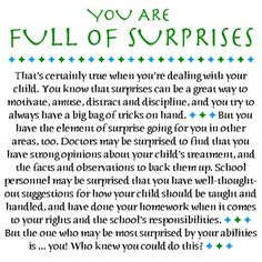 Love Notes for Special Parents Gallery: You Are Full of Surprises