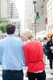 engagement photo in NYC