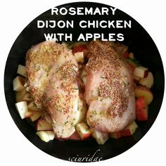 Rosemary Dijon Chicken with Apples #primal #paleo #slowcooker