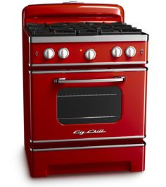 Cherry Red Retro Stove by Big Chill    I would have loved to get this, but my kitchen is painted a maroon.
